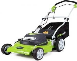 GreenWorks corded electric lawnmower