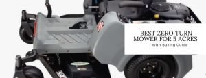 Top 4 best lawn mowers for 5 acres