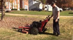 user's training for using lawn mower
